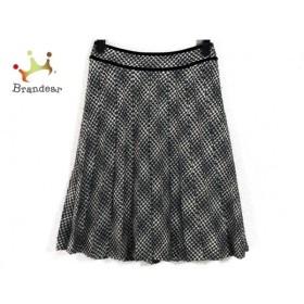 ニジュウサンク 23区 スカート サイズ34 S レディース 黒×ライトグレー×白   スペシャル特価 20191011