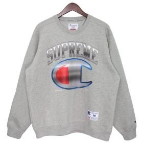 6861599e0f02de Supreme×Champion 19SS Chrome Crewneck ビッグロゴクルーネックスウェット グレー サイズ:M (吉祥寺