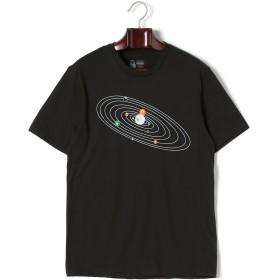 【52%OFF】Solar Pool プリント クルーネック 半袖Tシャツ ブラック s