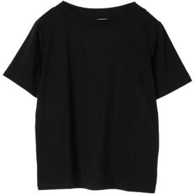 【オンワード】 Green Parks(グリーンパークス) ボートネックTシャツ Black F レディース 【送料無料】