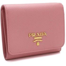 プラダ PRADA サフィアーノ サフィアーノメタル 3つ折り財布 小銭入れ付き 1MH176 QWA F0442 PETALO ピンク系
