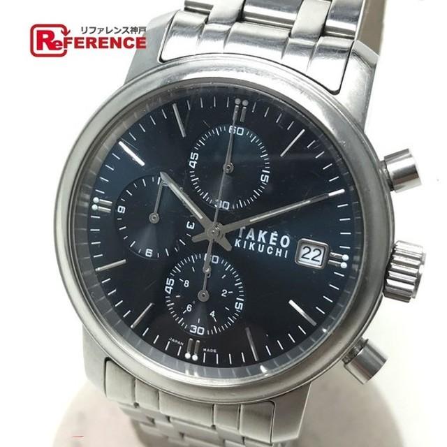 buy online b0add 6ab75 TAKEO KIKUCHI タケオキクチ TK-2079 クォーツ腕時計 クロノ ...