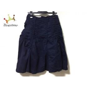 トリココムデギャルソン tricot COMMEdesGARCONS スカート サイズS レディース ネイビー   スペシャル特価 20190917