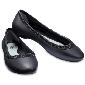 【クロックス公式】 クロックス リナ ディアマンテ フラット ウィメン Women's Crocs Lina Diamante Flat ウィメンズ、レディース、女性用 ブラック/黒 21cm,22cm,23cm,24cm,25cm,26cm flat フラットシューズ バレエシューズ ぺたんこシューズ 10%OFF