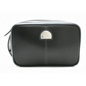 (バッグ)BURBERRY バーバリー セカンドバッグ ハンドバッグ クラッチバッグ レザー ブラック 黒 メンズ 紳士用 (k)