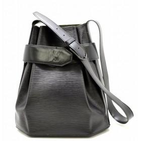 (バッグ)LOUIS VUITTON ルイ ヴィトン エピ サックデポールPM ショルダーバッグ セミショルダー ワンショルダー ノワール 黒 ブラック M80155(u)