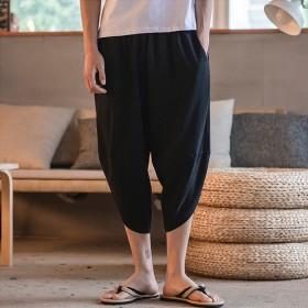 メンズ ビーチパンツ ショートパンツ 薄い ハーレムパンツ 大きいサイズ ゆったり お兄系 19mqo058