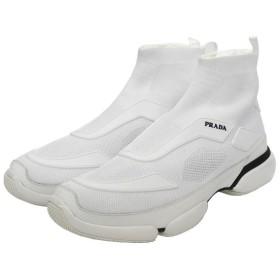 【9月26日値下】PRADA クラウドバストハイトップスニーカー ホワイト サイズ:9 (渋谷店)