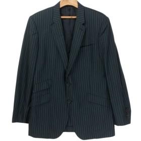 Paul Smith LONDON チョークストライプ テーラードジャケット ブラック/グレー サイズ:L2 (神戸岡本店) 190626