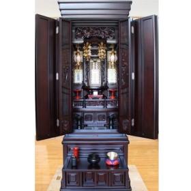 仏壇 唐木仏壇 紫檀二方練 秋光20号 一部地域を除き無料設置