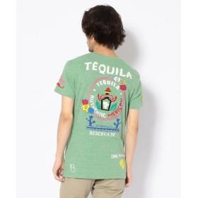 RAWLIFE birdog/バードッグ/hand embroidery t shirts TEQUILA /手刺繍Tシャツ TEQUILA メンズ GREEN L 【RAWLIFE】