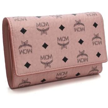 エムシーエム MCM 財布 COLOR VISETOS コンパクト 3つ折り財布 小銭入れ付き MYM7AVC49 PZ001 ピンク系
