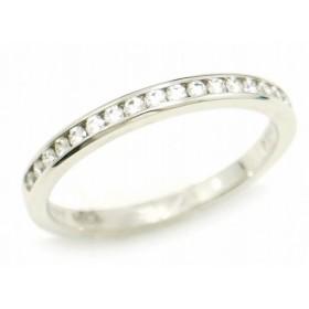 (ジュエリー)TIFFANY&Co. ティファニー ハーフサークル チャネルセッティング バンドリング 指輪 12.5号 #12.5 PT950 プラチナ ダイヤモンド (u)