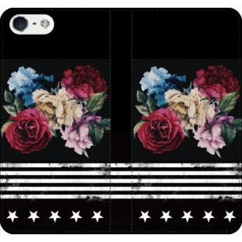 BIGBANG iPhone ケース galaxy xperia android アンドロイド ギャラクシー 手帳(手帳/BIGBANG:FIVE FLOWER)(手帳カラー:ブラック)