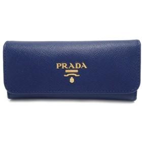 PRADA プラダ 6連キーケース キーケース SAFFIANO METAL 型押しレザー BLUETTE ブルー 青 1M0223(k)