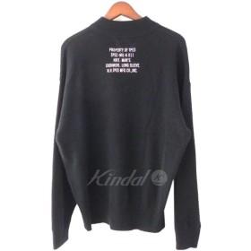 N.HOOLYWOOD 18AW SAMPLE品 カシミヤモックネックニットセーター ブラック サイズ:38 (原宿店) 190303
