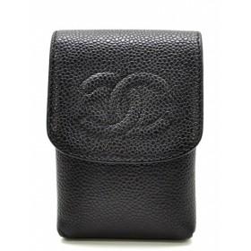 CHANEL シャネル ココマーク キャビアスキン シガレットケース タバコケース 黒 ブラック A13511(u)