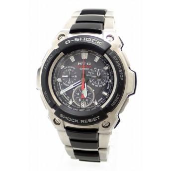 (ウォッチ)CASIO カシオ G-SHOCK MT-G 電波ソーラー タフソーラーブラック文字盤 SS メンズ 腕時計 MTG-1000(u)