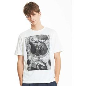 (ABAHOUSE/アバハウス)LouvreアートプリントTシャツ/メンズ ホワイト 送料無料