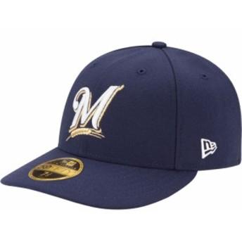 ニューエラ New Era メンズ キャップ 帽子 Milwaukee Brewers 59Fifty Game Navy Low Crown Authentic Hat