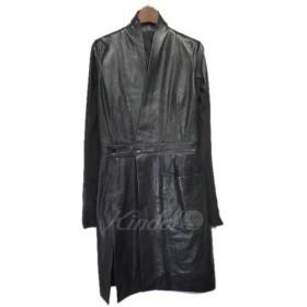Rick Owens ノーカラーレザーコート ブラック サイズ:38 (栄店) 181205