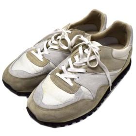 ZDA UA別注 Marathon マラソンスニーカー ホワイトxベージュグレー サイズ:41 (恵比寿店) 190311