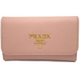 PRADA プラダ 6連キーケース キーケース サフィアーノ メタル 型押し レザー カーフ ORCHIDEA ピンク 国内ブティック購入品 1PG222(u)