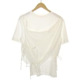 【5月23日値下】IRENE 2018S/S レースレイヤード Tシャツ ホワイト サイズ:36 (三宮店)