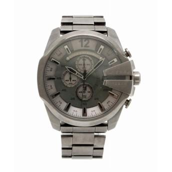 (ウォッチ)DIESEL ディーゼル メガチーフ クロノグラフ デイト ガンメタ文字盤 SS ガンメタリック メンズ クォーツ 腕時計 DZ-4282 DZ 4282 (k)