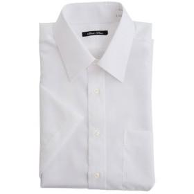 【メンズ】 綿100%形態安定Yシャツ(半袖)(お手入れ簡単ワイシャツ) ■カラー:ホワイトA(レギュラー衿) ■サイズ:3L,LL,L,5L,M,4L
