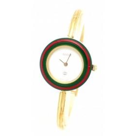 (ウォッチ)GUCCI グッチ チェンジベゼル ホワイトダイアル レディース クォーツ 腕時計 1100L (k)