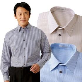 ストライプ長袖シャツ 3色組 メンズ ボタンシャツ ストライプ 長袖 ビジネス 通年 50代 60代 957415