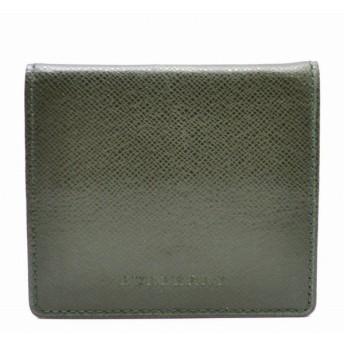 (財布)BURBERRY バーバリー コインケース レザー 小銭入れ コインパース ダークグリーン(k)