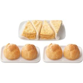 北海道ミルクレープ4個&シュークリーム4個セット