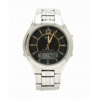 (ウォッチ)CASIO カシオ ウェーブセプター リニエージ タフソーラー 電波時計 ブラック文字盤 アナログ デジタル メンズ 腕時計 LCW-M200 (k)