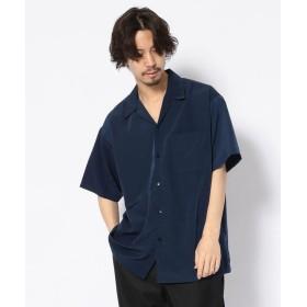 【20%OFF】 RAWLIFE CalTop/キャルトップ/OPEN COLLAR S/S SHIRT/オープンカラービッグシャツ メンズ NAVY S 【RAWLIFE】 【セール開催中】