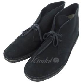 Clarks スウェードデザートブーツ ブラック サイズ:US 10 1/2 (和歌山店) 190615