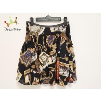 ロイスクレヨン Lois CRAYON スカート サイズM レディース 美品 黒×レッド×マルチ 値下げ 20190915