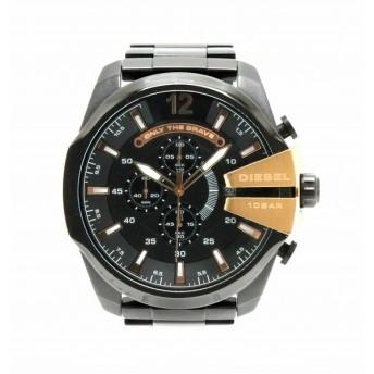 (ウォッチ)DIESEL ディーゼル メガチーフ クロノグラフ デイト ブラック文字盤 SS ブラック メンズ クォーツ 腕時計 DZ-4309 DZ 4309 (k)
