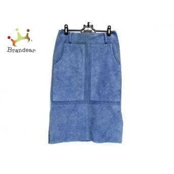 チノ CINOH スカート サイズ36 S レディース 18RLE003 ライトブルー スエード/タグ付き       スペシャル特価 20200226
