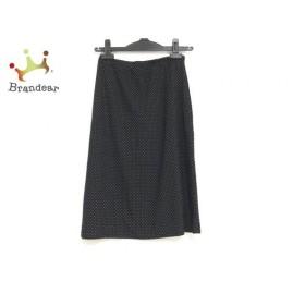 アニエスベー agnes b スカート サイズ1 S レディース 美品 黒×白 ドット柄 新着 20190629