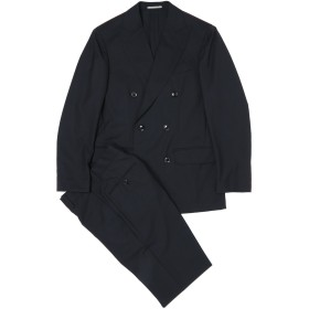 【83%OFF】Zio Bernardo ダブルブレステッド ピークドラペル スーツ ブラック 48