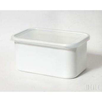 野田琺瑯 ホーロー保存容器 ホワイトシリーズ レクタングル深型 LL シール蓋付 WRF-LL