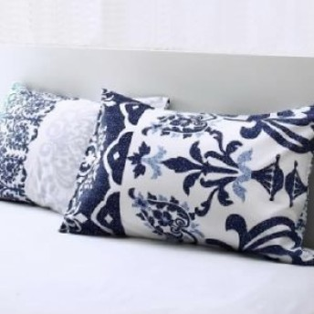 単品 綿100%やわらか肌触りのしわになりにくい リゾートデザインカバーリング Brise de mer series La mer ラメール 用 枕カバー 1枚 43