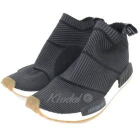 【12月10日値下】adidas BA7209 「NMD CS1 PK」ハイカットスニーカー ブラック サイズ:28.5cm (新宿店)