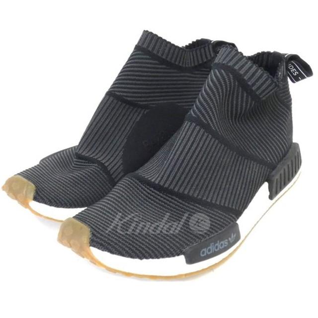 【2月17日値下】adidas BA7209 「NMD CS1 PK」ハイカットスニーカー ブラック サイズ:28.5cm (新宿店)