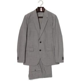 【64%OFF】ノッチドラペル スーツ グレー 48