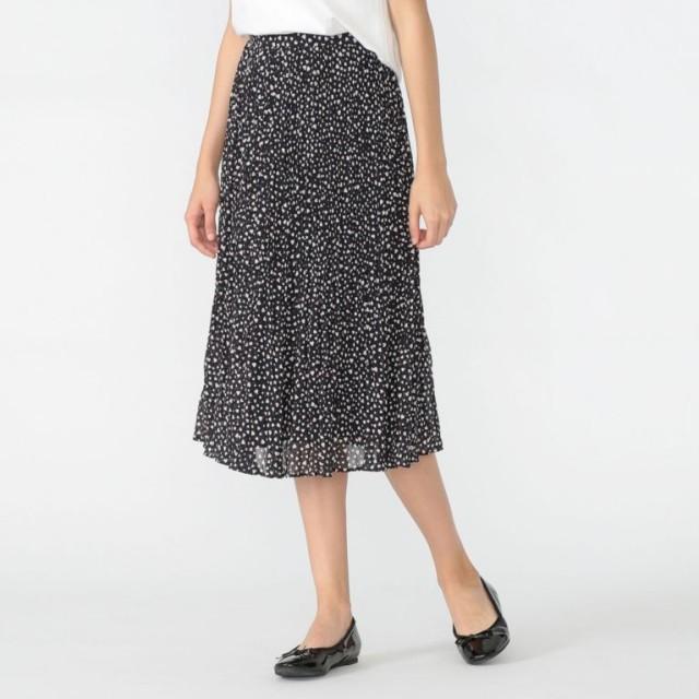 【マッキントッシュ ロンドン ウィメン(MACKINTOSH LONDON WOMEN)】 【L】ハートコンフェッティプリントスカート ネイビー