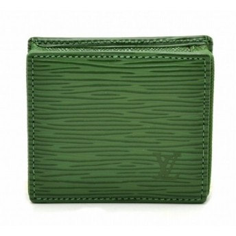 (財布)LOUIS VUITTON ルイ ヴィトン エピ ボワット コインケース 小銭入れ スクエア型 ボルネオグリーン 緑 グリーン M63694(k)