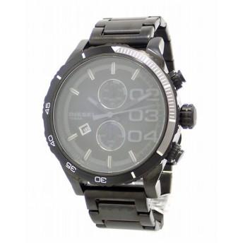 (ウォッチ)DIESEL ディーゼル ダブルダウン クロノグラフ デイト ブラック文字盤 ブラック メンズ クォーツ 腕時計 DZ4326 DZ 4326(u)